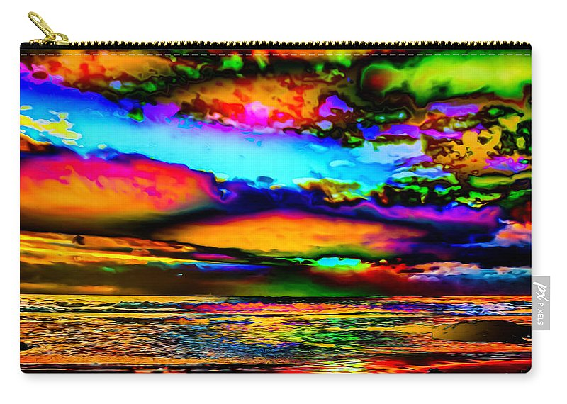 World's Carry-all Pouch featuring the digital art Clouds With Attitude by Ron Fleishman