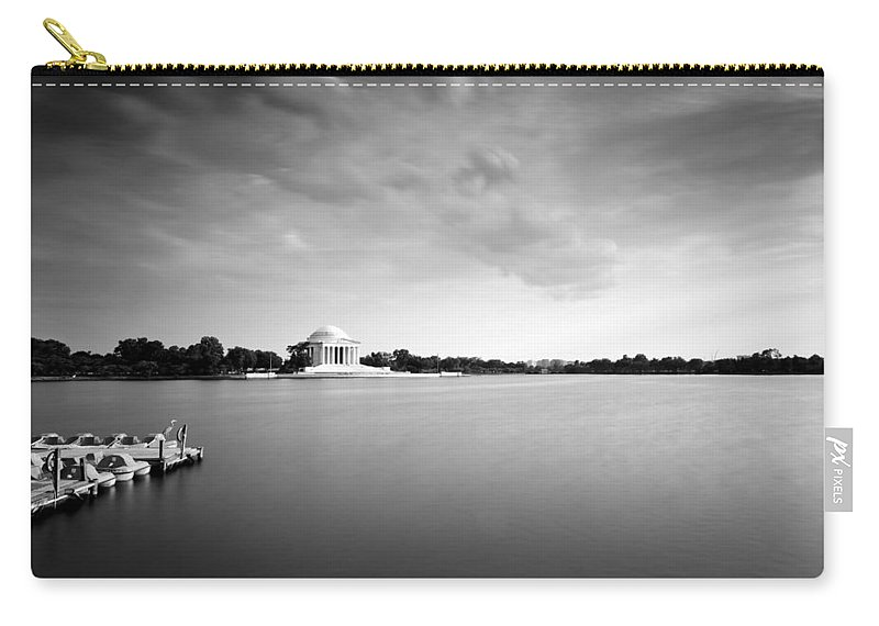 Clouds Carry-all Pouch featuring the photograph cloudscape and the Tidal Basin by Edward Kreis