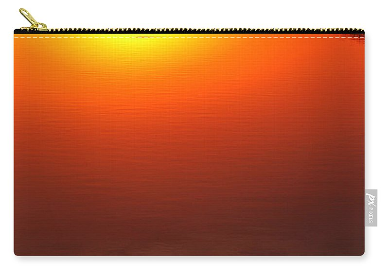 Clay Carry-all Pouch featuring the photograph Cloudy Sunset by Clayton Bruster