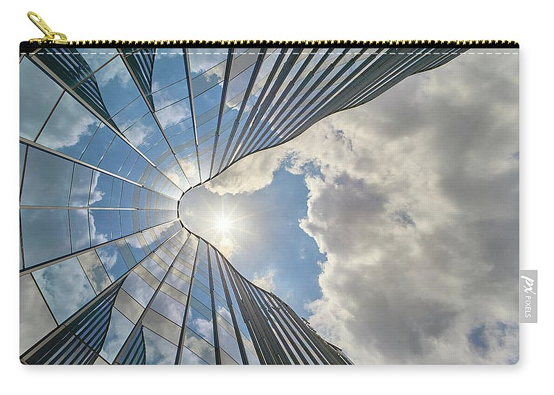 Architecture Carry-all Pouch featuring the photograph Cloudy Waves by Dmitry Dreyer