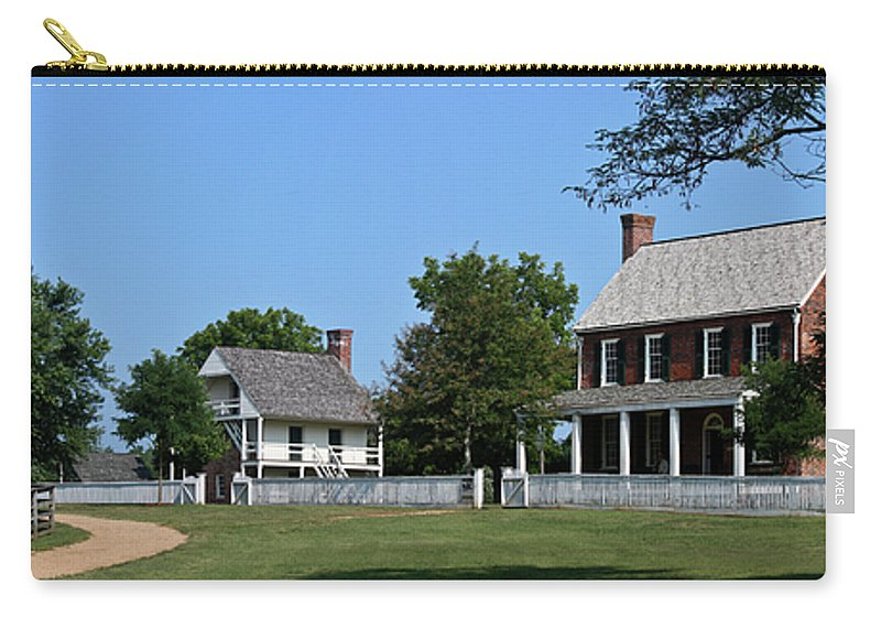 Appomattox Carry-all Pouch featuring the photograph Clover Hill Tavern Appomattox Court House Virginia by Teresa Mucha
