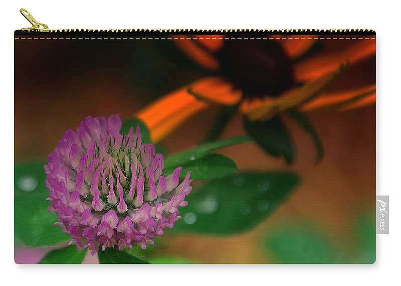 Clover Carry-all Pouch featuring the photograph Clover In My Yard by Susanne Van Hulst