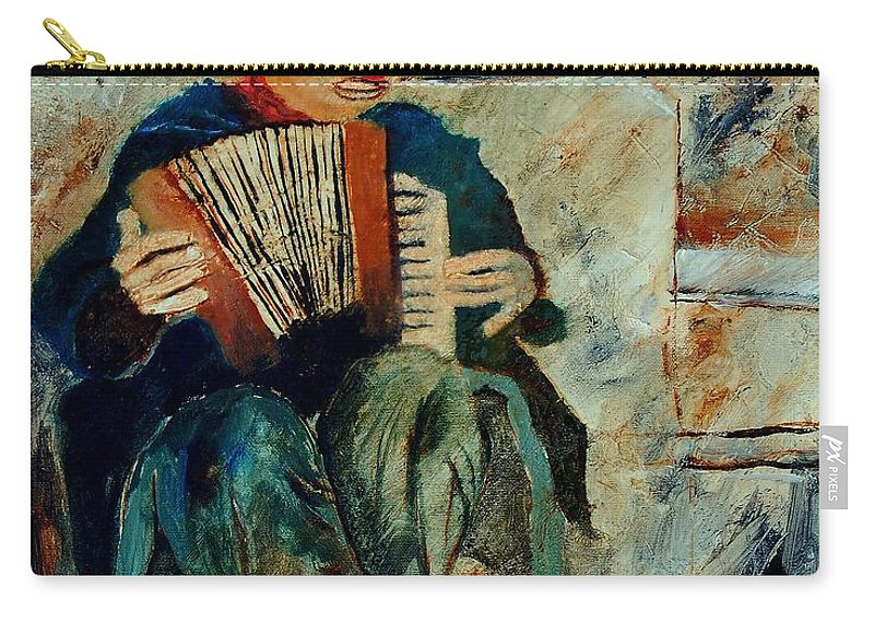 Music Carry-all Pouch featuring the painting Clown by Pol Ledent