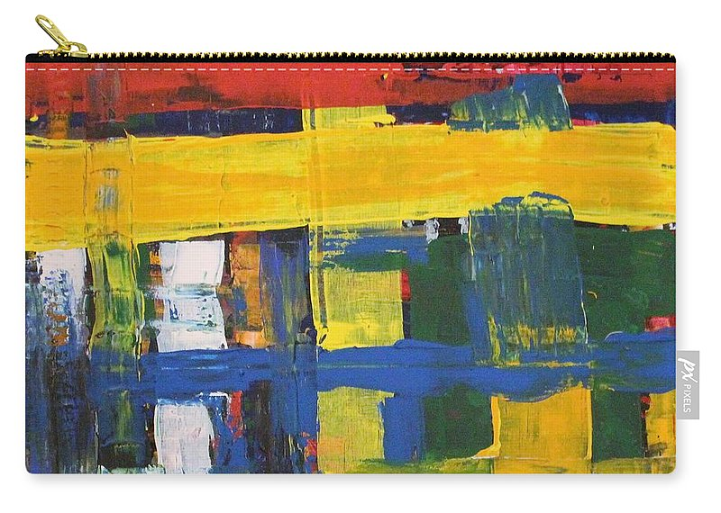 Red Carry-all Pouch featuring the painting Club House by Pam Roth O'Mara