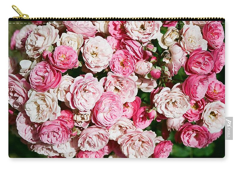Rose Carry-all Pouch featuring the photograph Cluster of roses by Dean Triolo