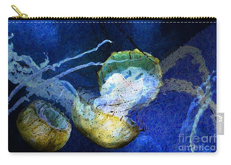 Jelly Fish Carry-all Pouch featuring the digital art Cnidaria by Ron Bissett