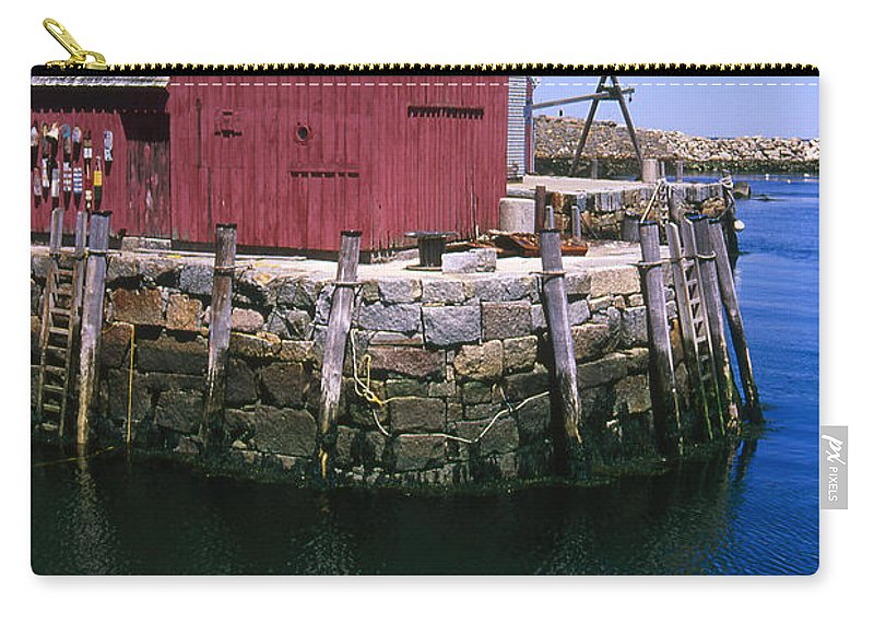 Landscape New England Rockport Motif Number 1 Carry-all Pouch featuring the photograph Cnrf0506 by Henry Butz