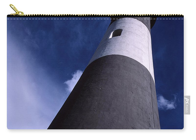 Landscape Lighthouse Fire Island Carry-all Pouch featuring the photograph Cnrf0701 by Henry Butz