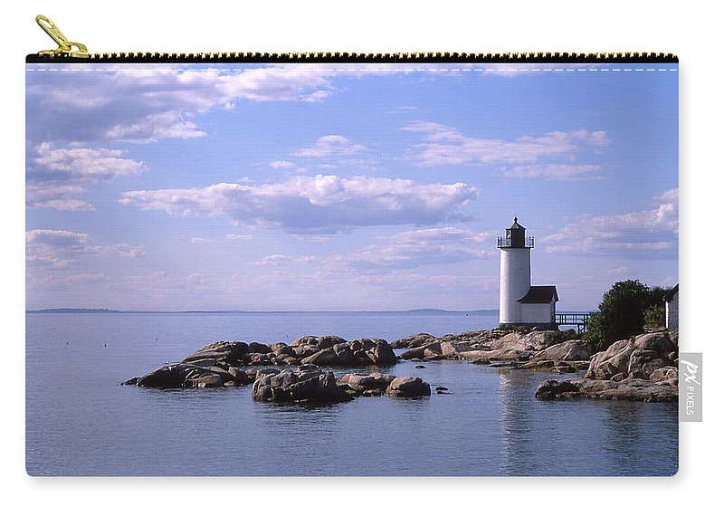 Landscape Lighthouse New England Nautical Carry-all Pouch featuring the photograph Cnrf0901 by Henry Butz