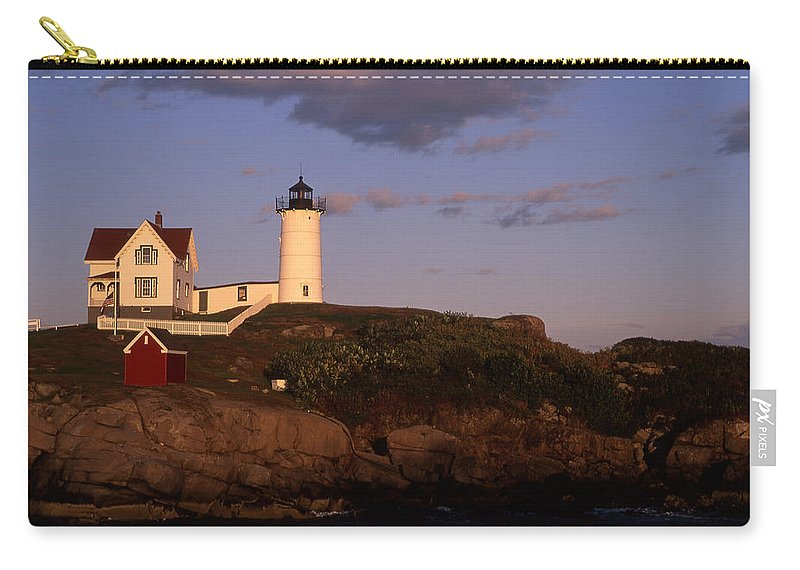 Landscape New England Lighthouse Nautical Coast Carry-all Pouch featuring the photograph Cnrf0908 by Henry Butz