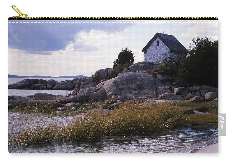 Landscape Beach Storm Carry-all Pouch featuring the photograph Cnrf0909 by Henry Butz