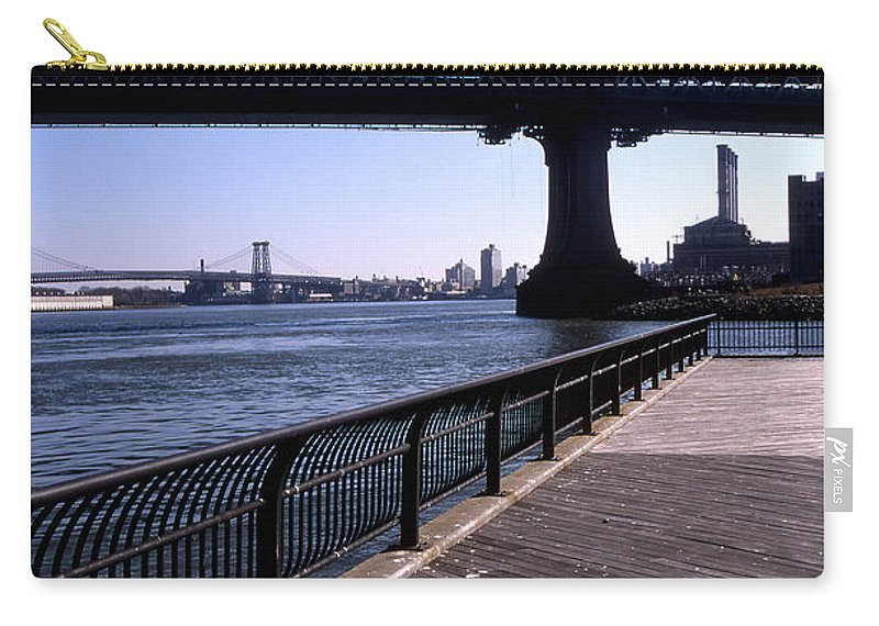 Landscape Manhattan Bridge New York City Carry-all Pouch featuring the photograph Cnrg0402 by Henry Butz