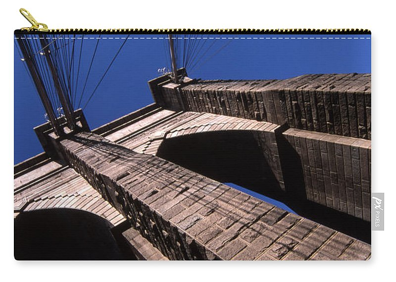 Landscape Brooklyn Bridge New York City Carry-all Pouch featuring the photograph Cnrg0408 by Henry Butz