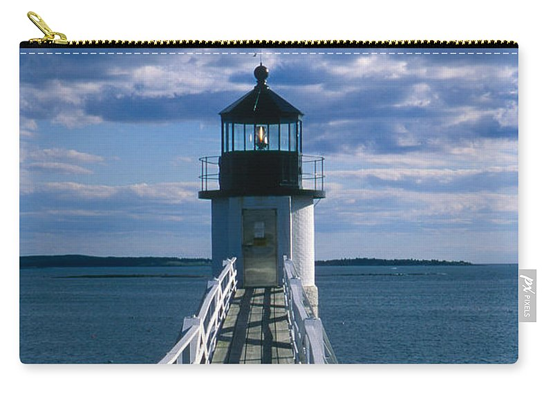 Landscape Lighthouse New England Marshall Point Light Port Clyde Carry-all Pouch featuring the photograph Cnrh0603 by Henry Butz