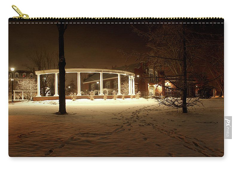Coady Carry-all Pouch featuring the photograph Coady International Institute Winter Night Nova Scotia by Brendan Riley