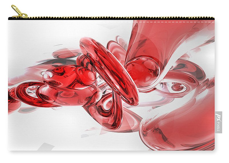 3d Carry-all Pouch featuring the digital art Coagulation Abstract by Alexander Butler