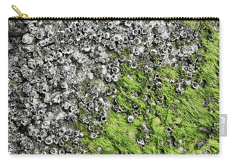 Sea Carry-all Pouch featuring the photograph Coast - Abstract by Mary Bassett