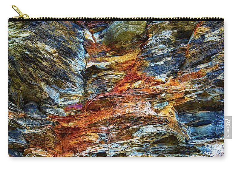 Sea Carry-all Pouch featuring the photograph Coast - Color Of Rock by Mary Bassett