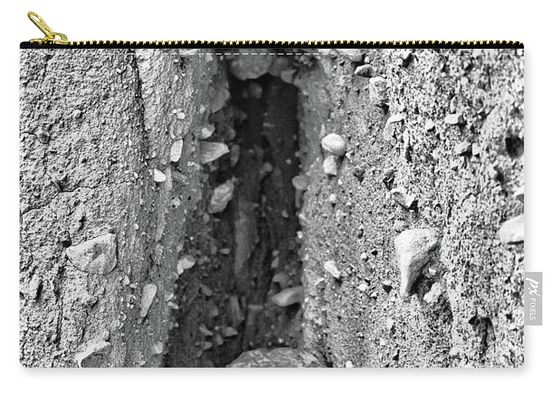 Sea Carry-all Pouch featuring the photograph Coast - Crevice by Mary Bassett