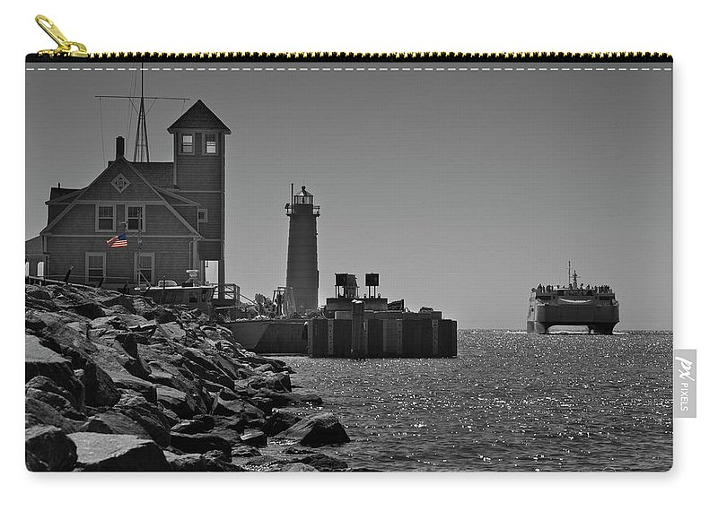 Photography Carry-all Pouch featuring the photograph Coast Guard Station by Frederic A Reinecke