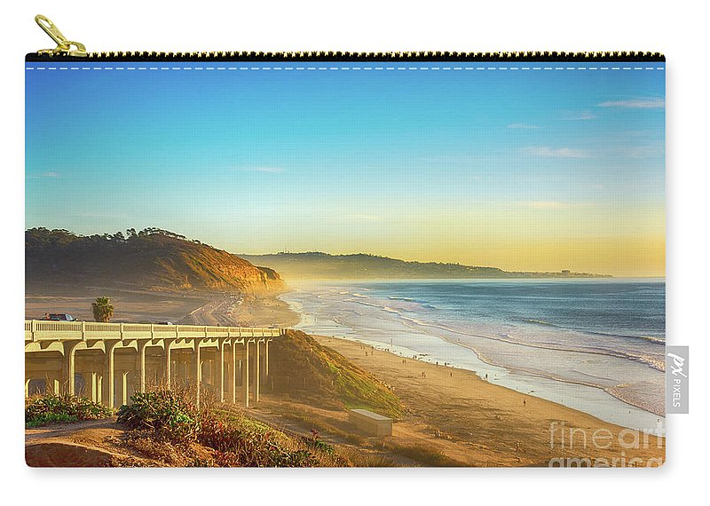 Highway Carry-all Pouch featuring the photograph Coast Highway Del Mar by Art Wager