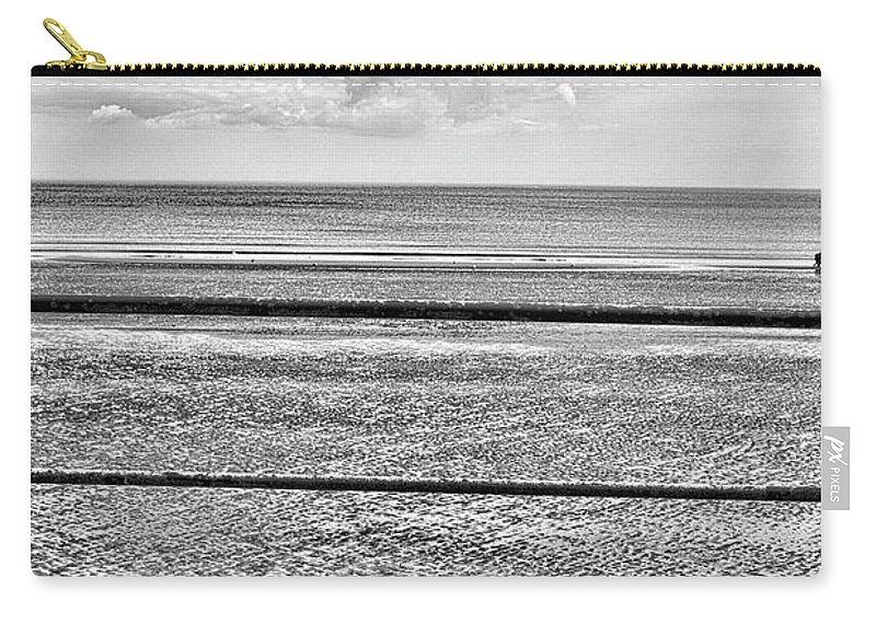 Sea Carry-all Pouch featuring the photograph Coast - Horizon Lines by Esoterica Art Agency