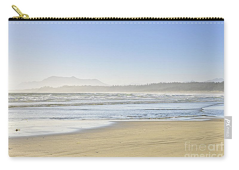 Pacific Carry-all Pouch featuring the photograph Coast Of Pacific Ocean On Vancouver Island by Elena Elisseeva