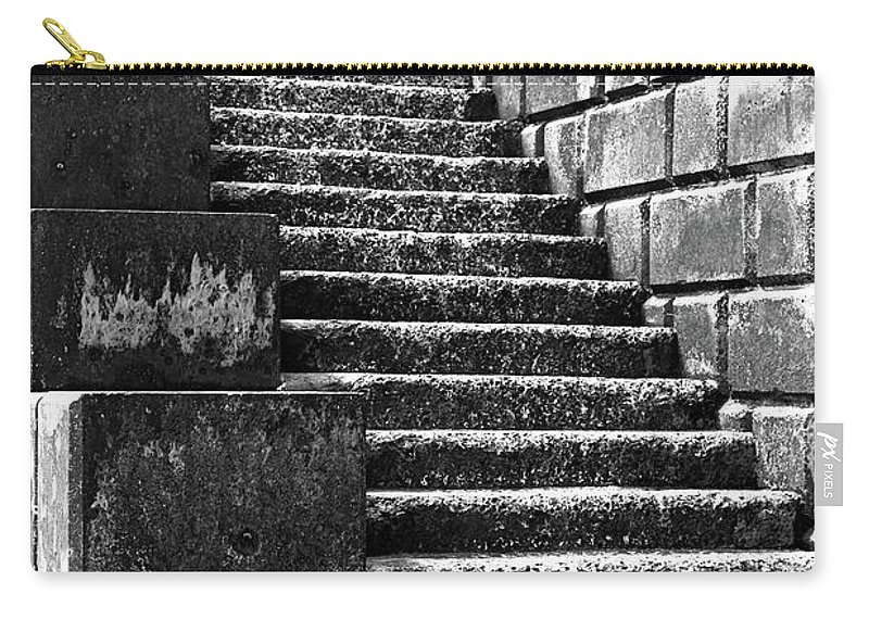 Stairs Carry-all Pouch featuring the photograph Coast - Sea Stairs by Mary Bassett