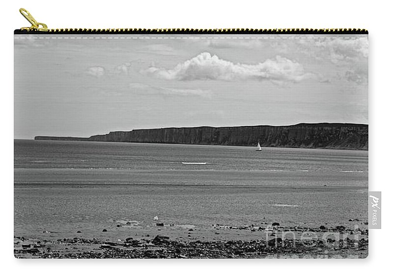 Sailing Carry-all Pouch featuring the photograph Coast - The Lonely Boat by Mary Bassett