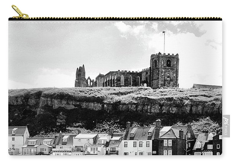 Church Carry-all Pouch featuring the photograph Coast - Whitby Abbey And Church by Mary Bassett