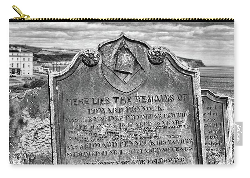 Freemason Carry-all Pouch featuring the photograph Coast - Whitby Freemason Grave by Mary Bassett