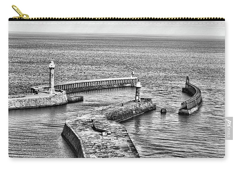 Sea Carry-all Pouch featuring the photograph Coast - Whitby Harbour by Mary Bassett