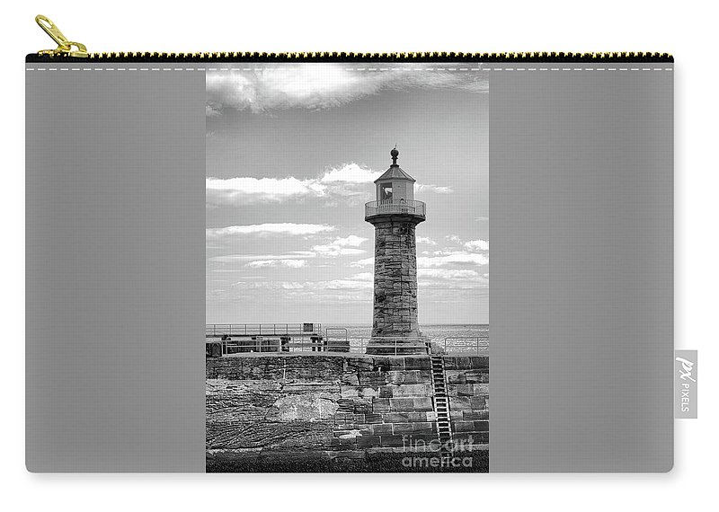 Lighthouse Carry-all Pouch featuring the photograph Coast - Whitby Lighthouse by Mary Bassett