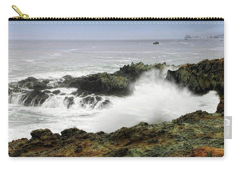 Coast Carry-all Pouch featuring the photograph Coastal Expressions by Donna Blackhall