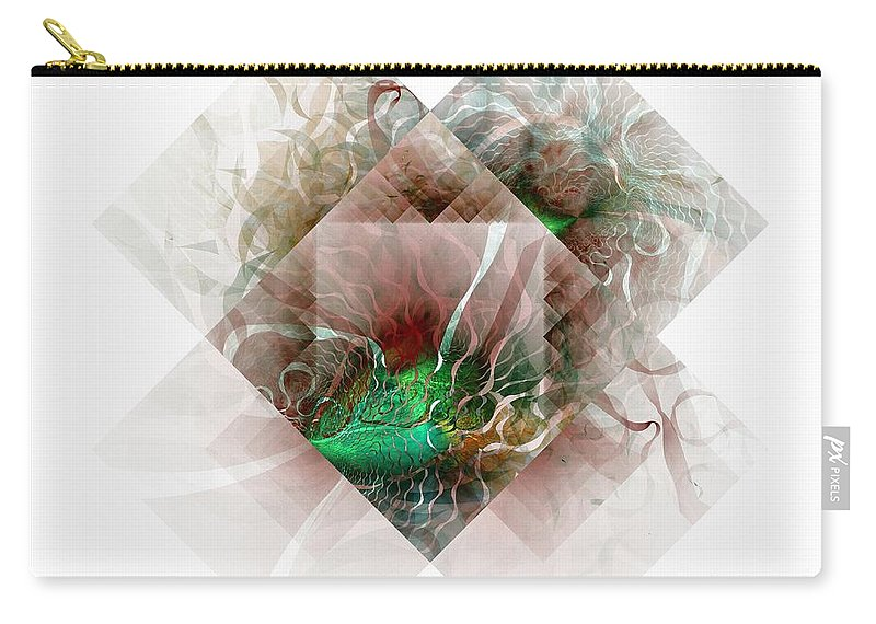 Digital Art Carry-all Pouch featuring the digital art Coastal Memoirs by Amanda Moore