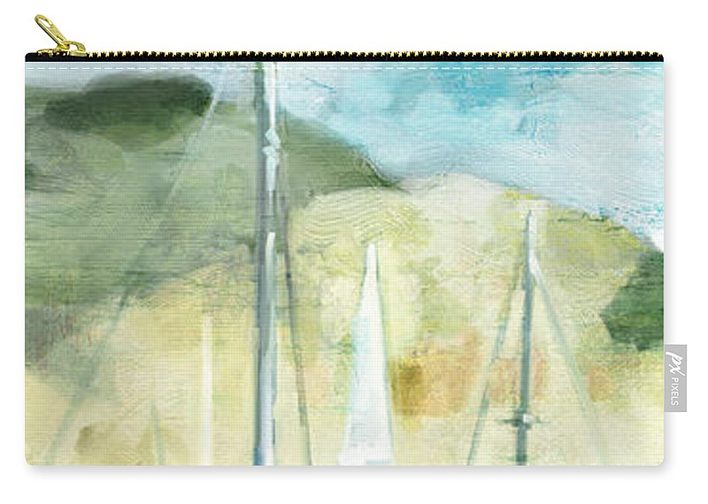 Coastal Carry-all Pouch featuring the painting Coastal Sails by Mauro DeVereaux