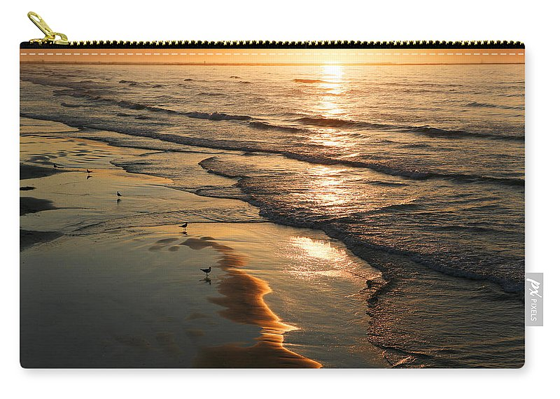 Beach Carry-all Pouch featuring the photograph Coastal Sunrise by Marilyn Hunt