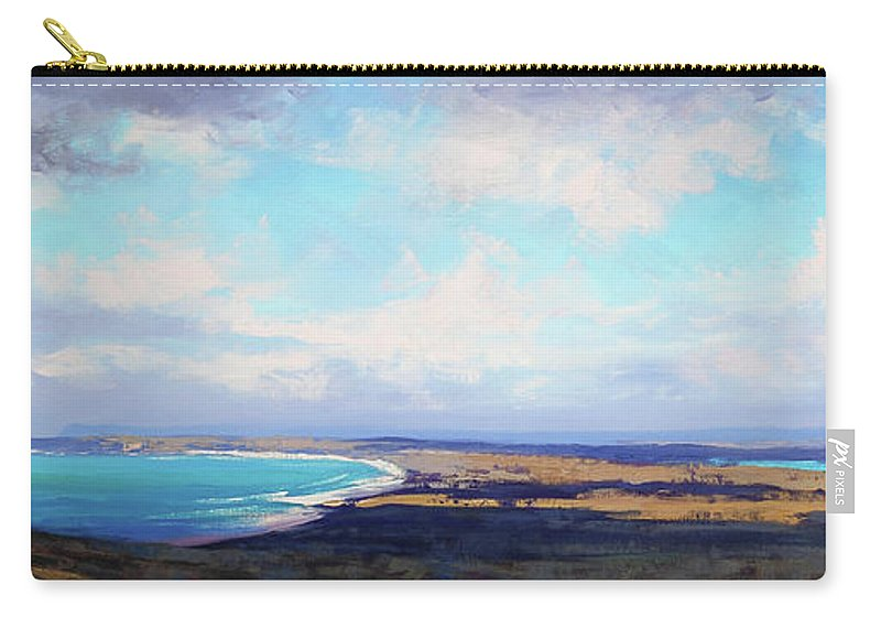 Nature Carry-all Pouch featuring the painting Coastal Vista Nsw by Graham Gercken