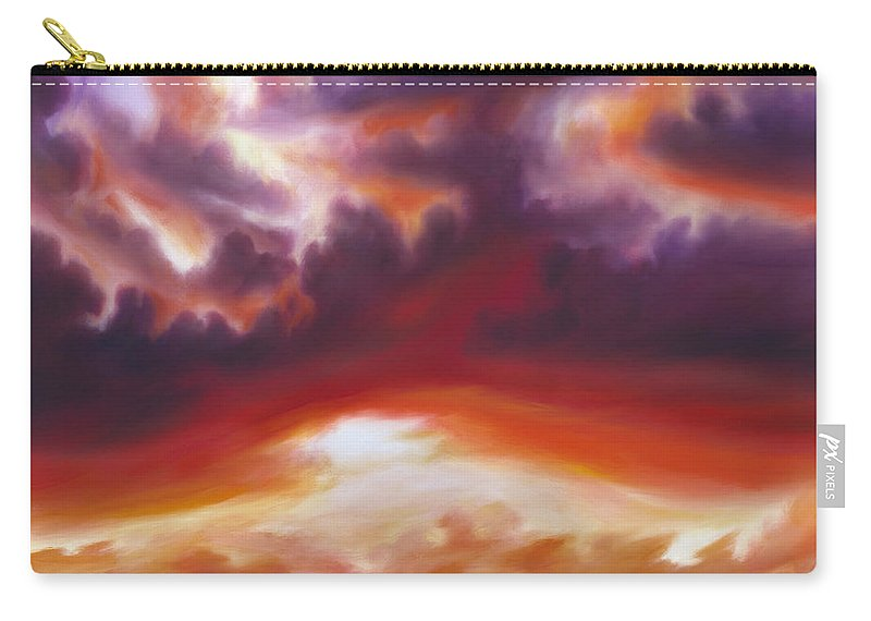Skyscape Carry-all Pouch featuring the painting Coastline by James Christopher Hill
