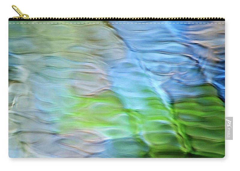 Coastline Carry-all Pouch featuring the photograph Coastline Mosaic Abstract Art by Christina Rollo