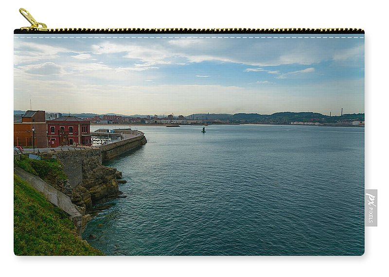 Spain Carry-all Pouch featuring the photograph Coastline Of The Bay by Ric Schafer