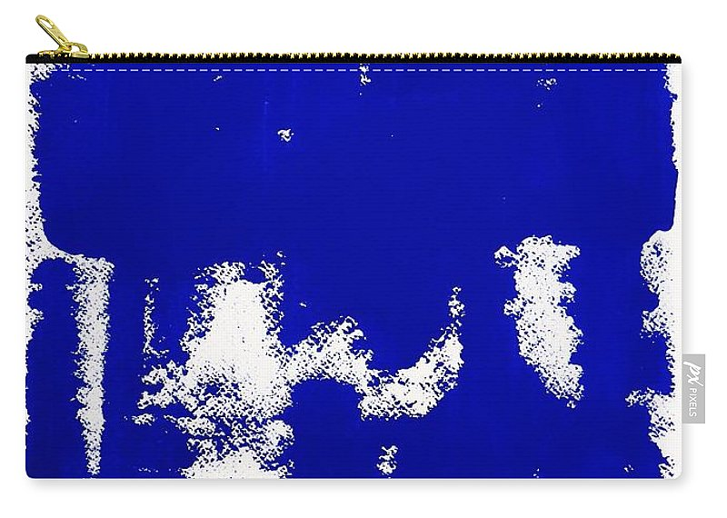 Blue Carry-all Pouch featuring the painting Cobalt Blue by Cristina Stefan