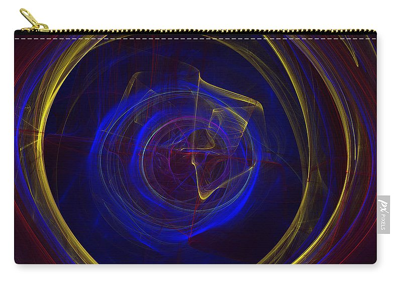 Apophysis Carry-all Pouch featuring the digital art Cobalt Blue by Deborah Benoit