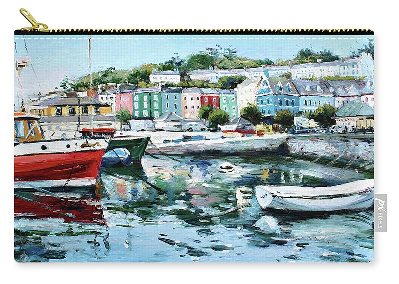 Cobh Carry-all Pouch featuring the painting Cobh Harbour County Cork by Conor McGuire