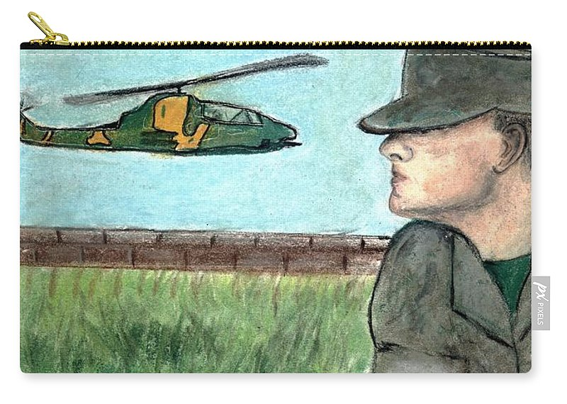 Marine Carry-all Pouch featuring the drawing Cobra by Melvin Moon