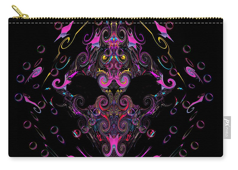 Carry-all Pouch featuring the digital art Cobra by Subbora Jackson