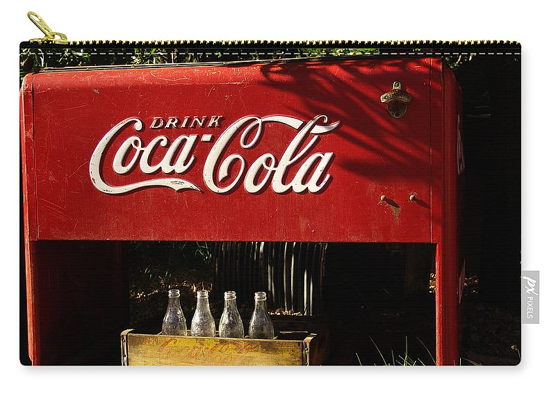 Coke Carry-all Pouch featuring the photograph Coca-cola by Carol Milisen