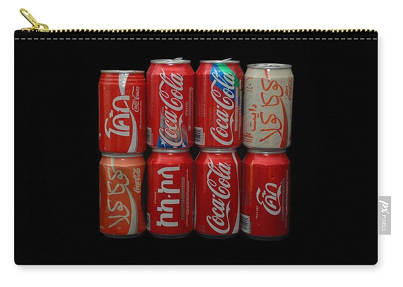 White Carry-all Pouch featuring the photograph Coca Cola by Rob Hans