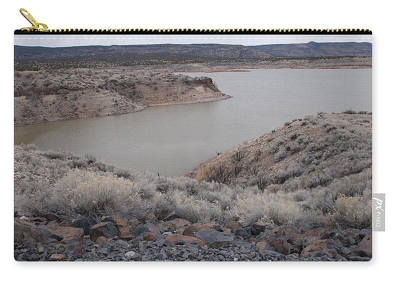 Mountians Carry-all Pouch featuring the photograph Cochiti Lake by Rob Hans