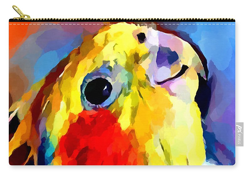 Cockatiel Carry-all Pouch featuring the painting Cockatiel 2 by Chris Butler